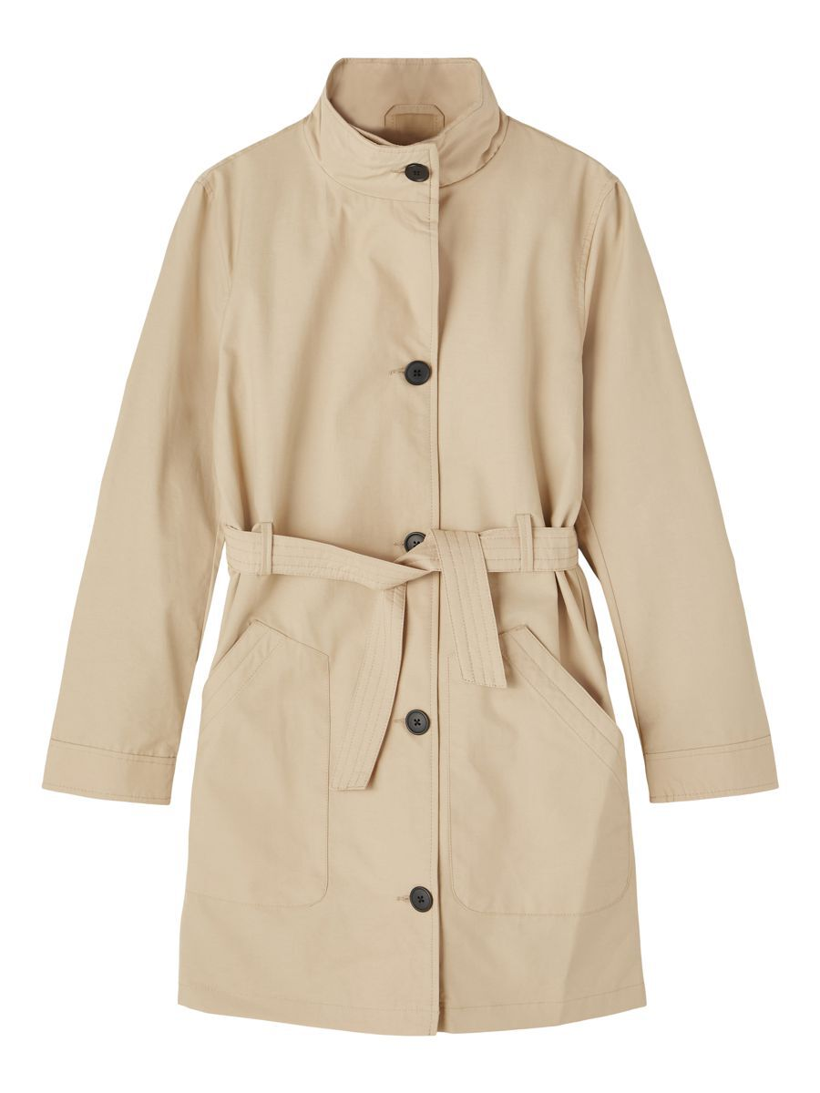 NAME IT Single Breasted Trenchcoat Dames Beige