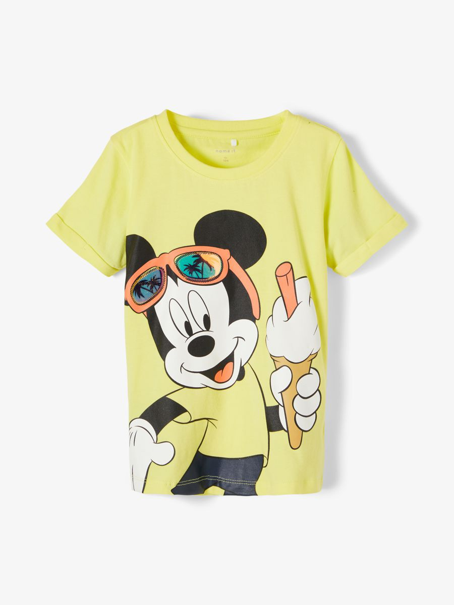 NAME IT Disney Mickey Mouse T-shirt Mænd Gul