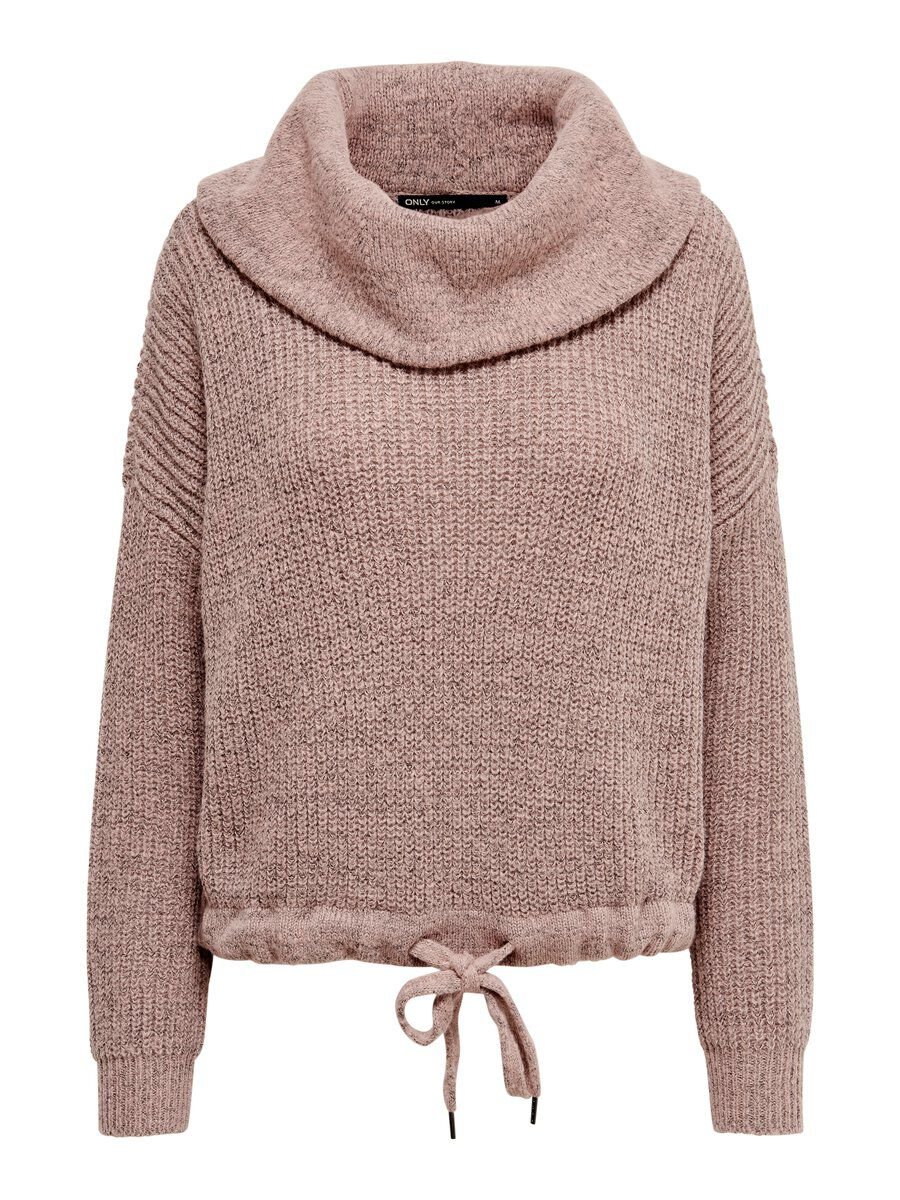 ONLY Rollneck Knitted Pullover Women Pink