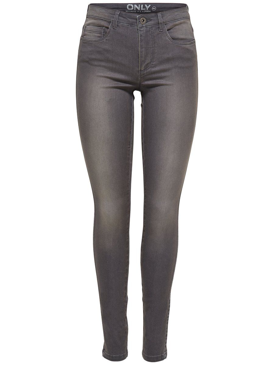 ONLY Royal Reg. Skinny Fit Jeans Damen Grau