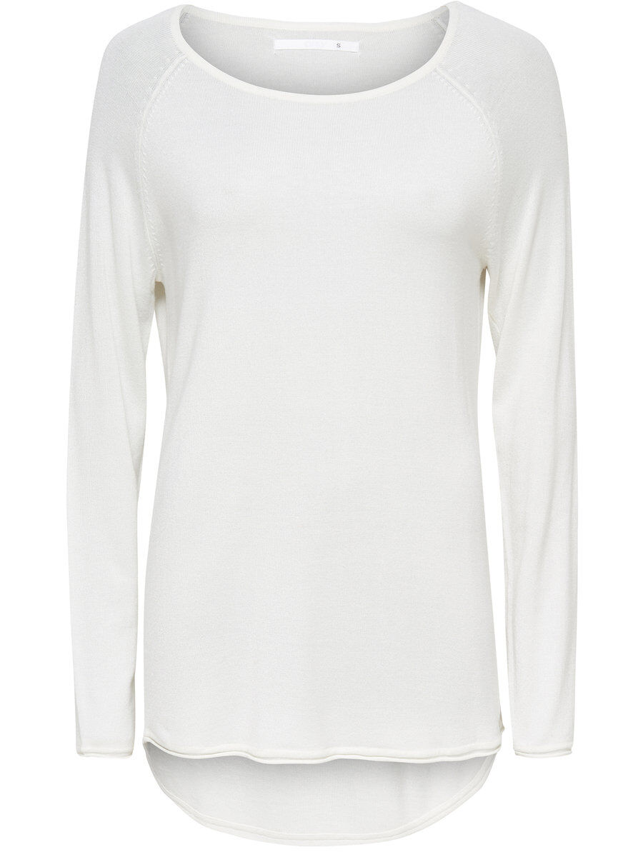 ONLY Lang Strickpullover Damen White