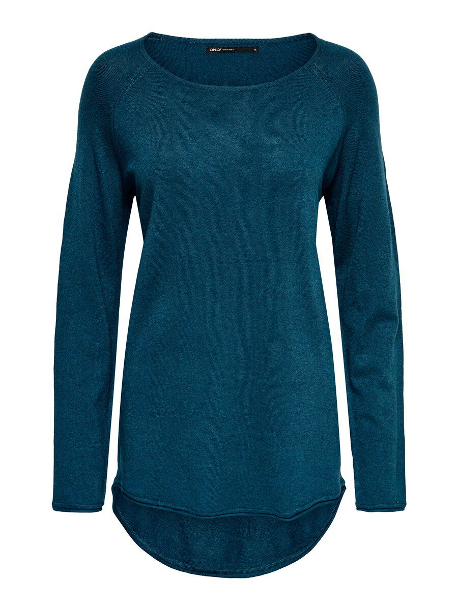 ONLY Lang Strickpullover Damen Blau