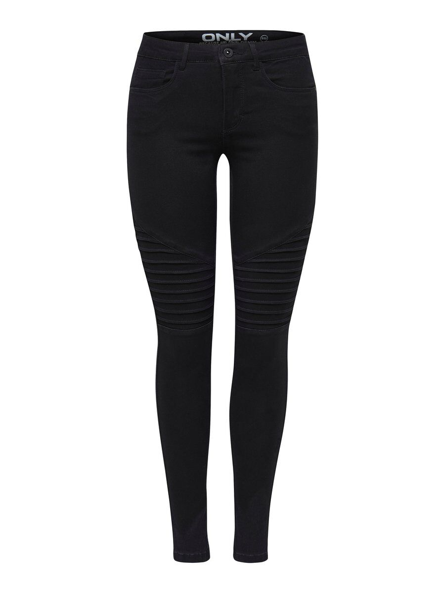 ONLY Onlroyal Regular Biker Skinny Fit-jeans Kvinna Svart