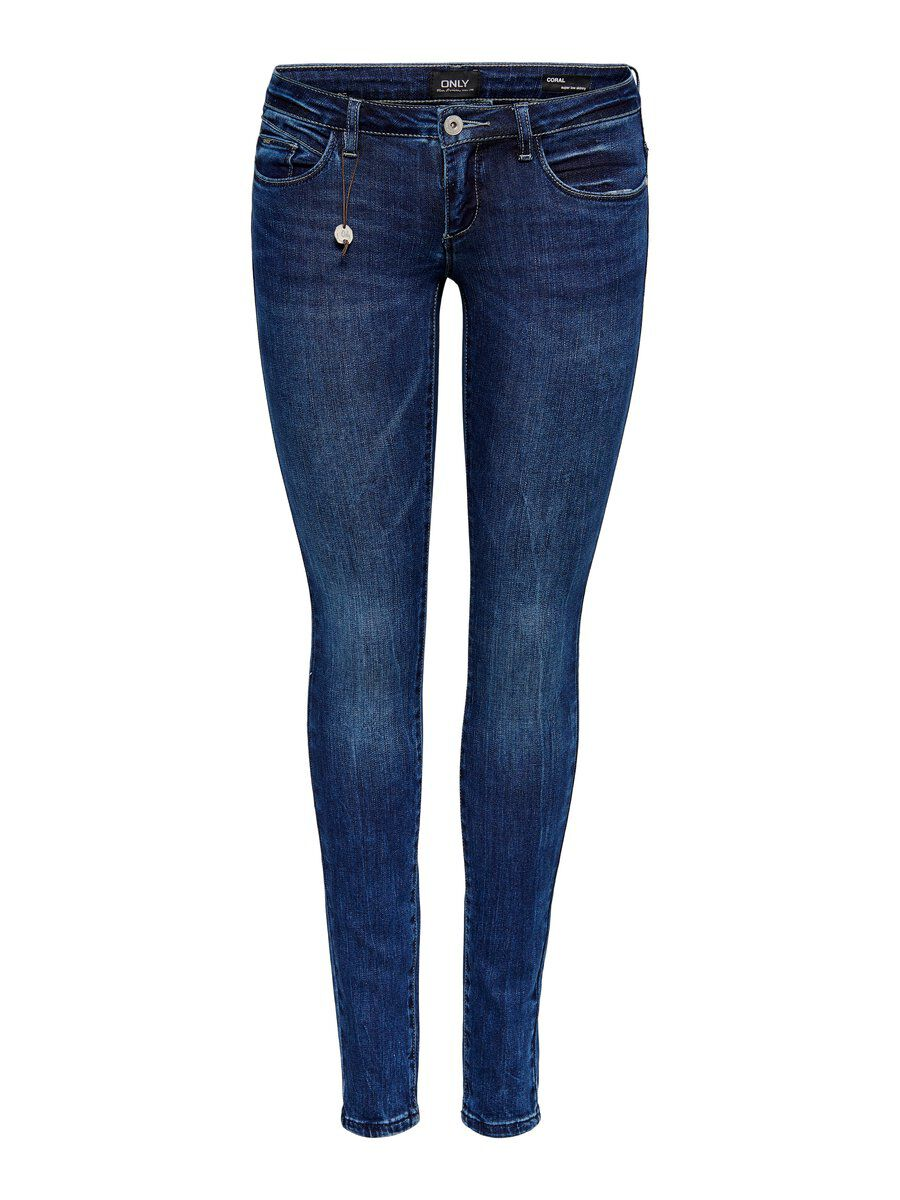 ONLY Onlcoral Superlow Skinny Fit Jeans Damen Blau