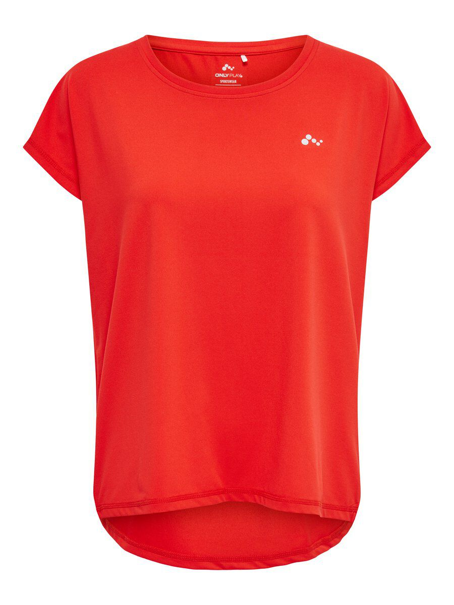 ONLY Loose Fit Sport Shirt Dames Rood