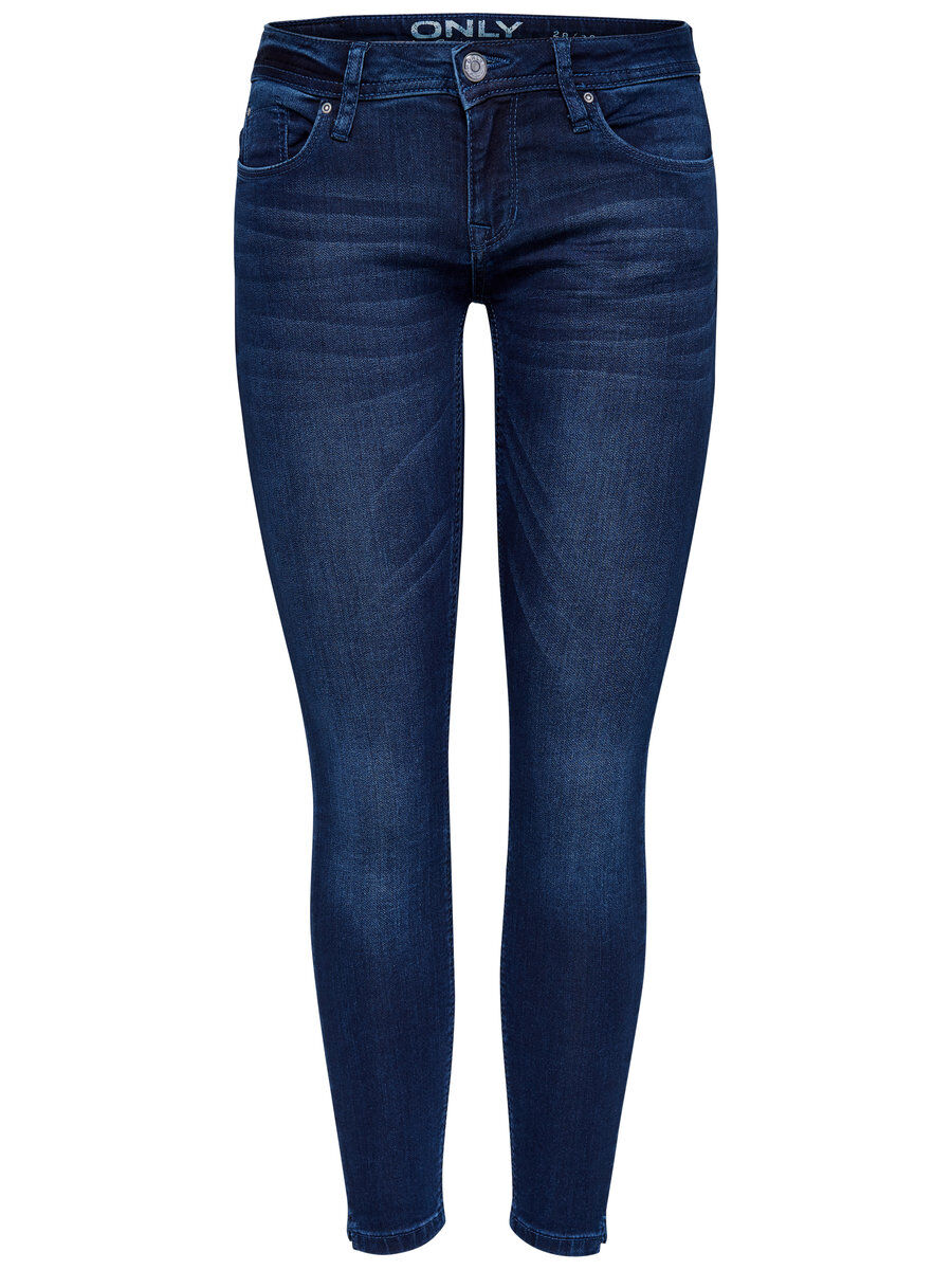 ONLY Onlcoral Superlow Ankle-jogg- Skinny Fit Jeans Damen Blau