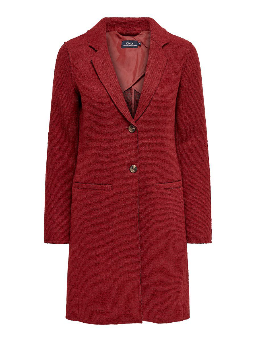 ONLY Woll- Mantel Damen Brown; Red
