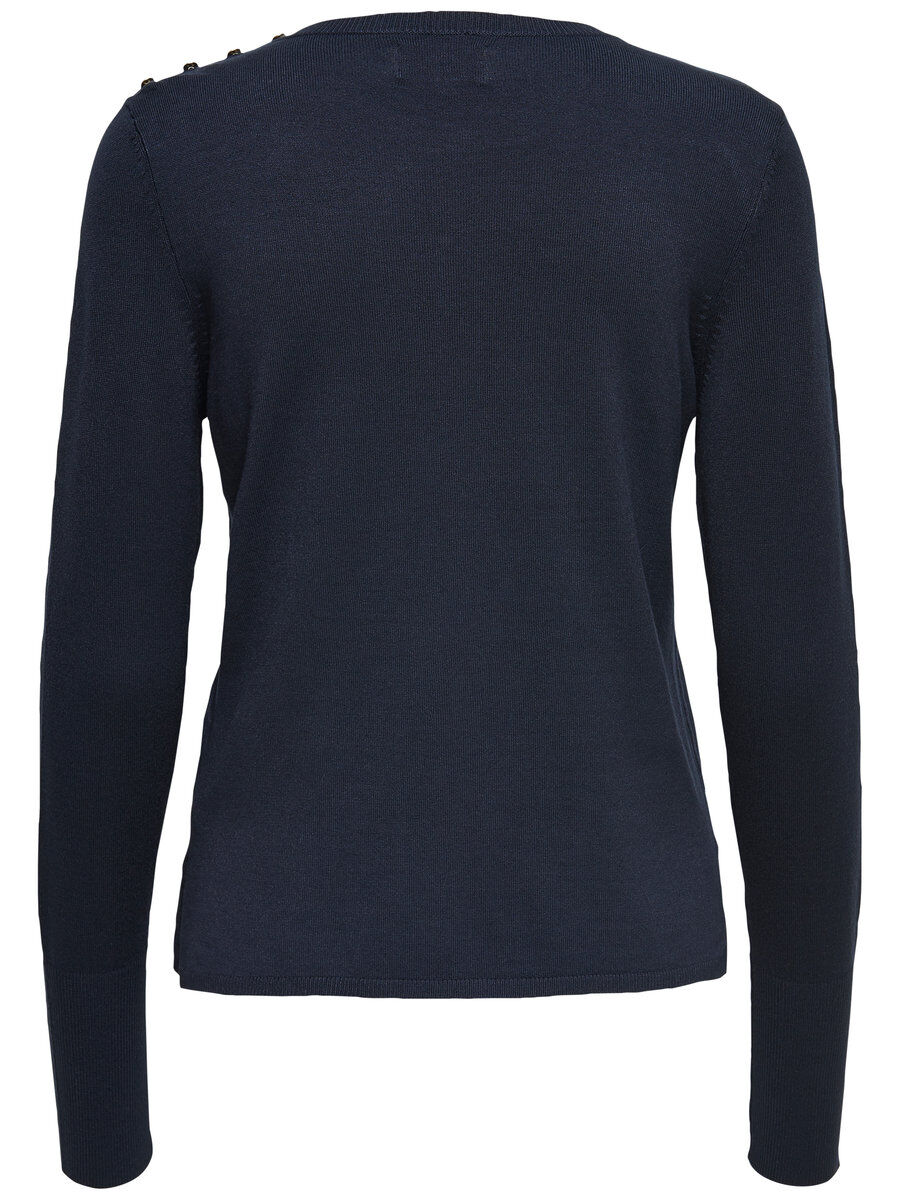 ONLY Detailed Knitted Pullover Women Blue