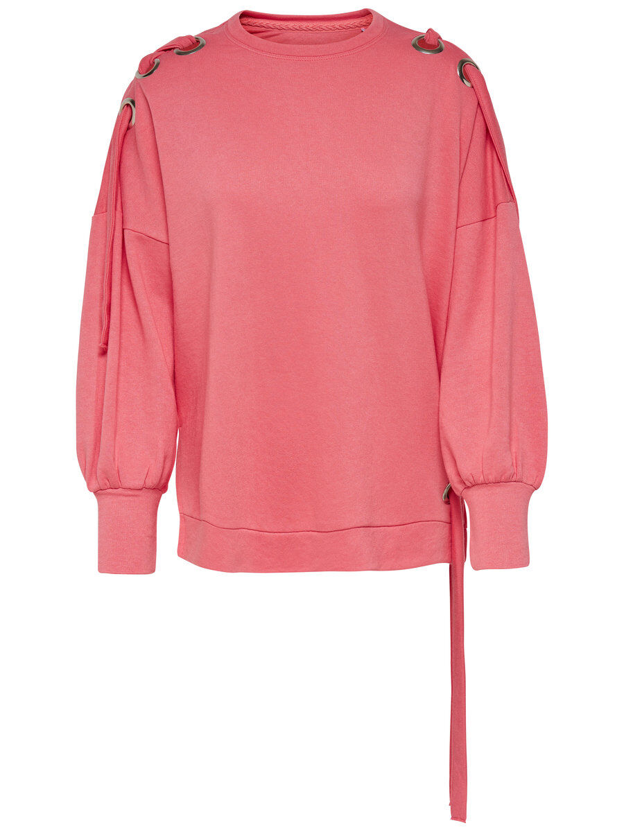 ONLY Detailreiches Sweatshirt Damen Pink