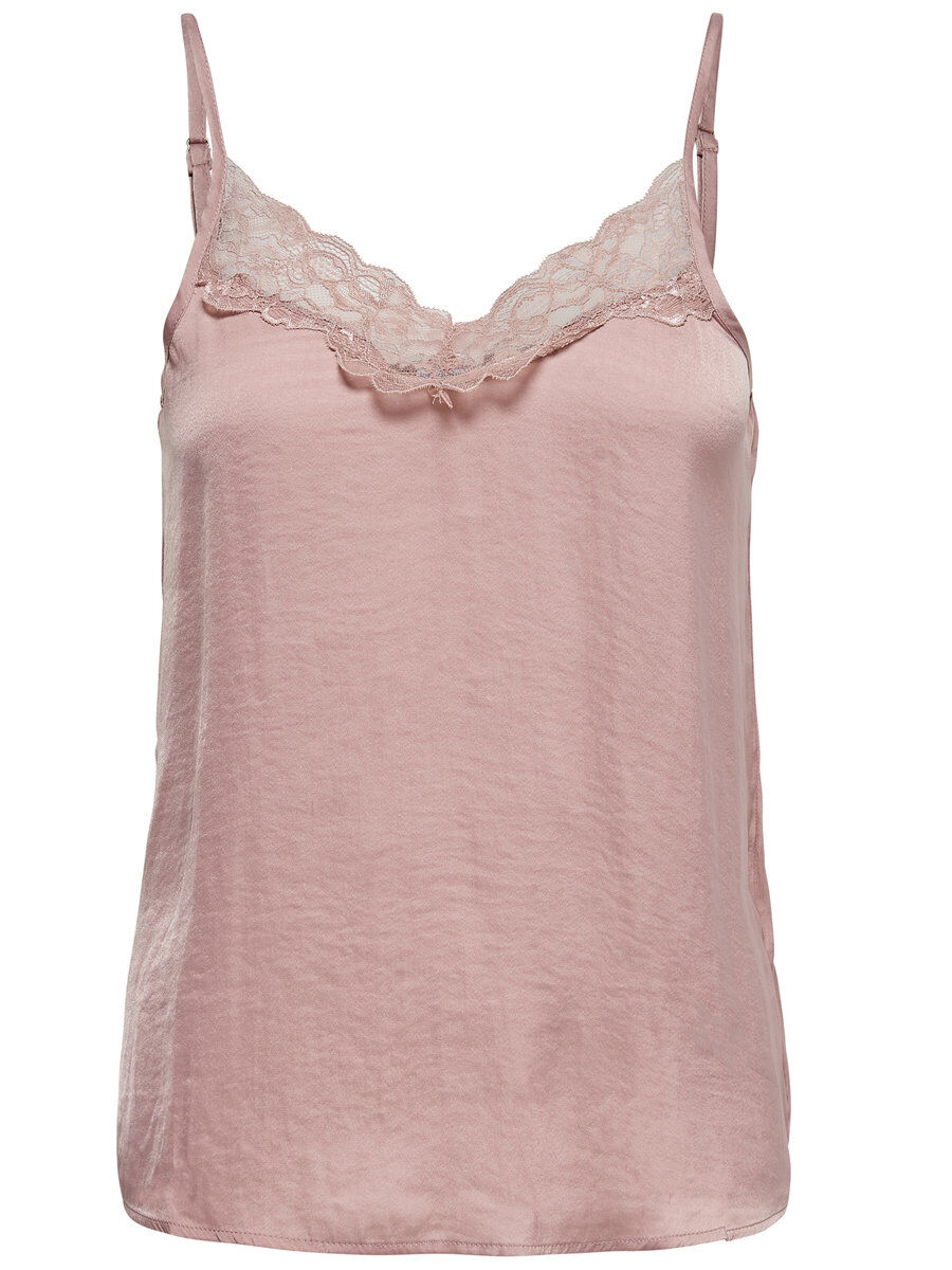 ONLY Lace Detail Cami Women Pink