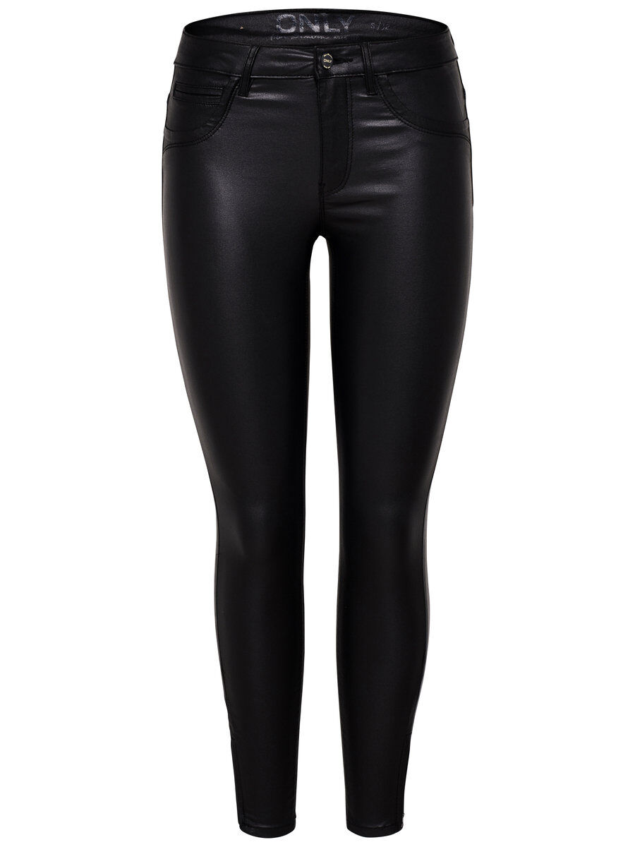 ONLY Onlkendell Reg Coated Skinny Fit Jeans Damen Schwarz