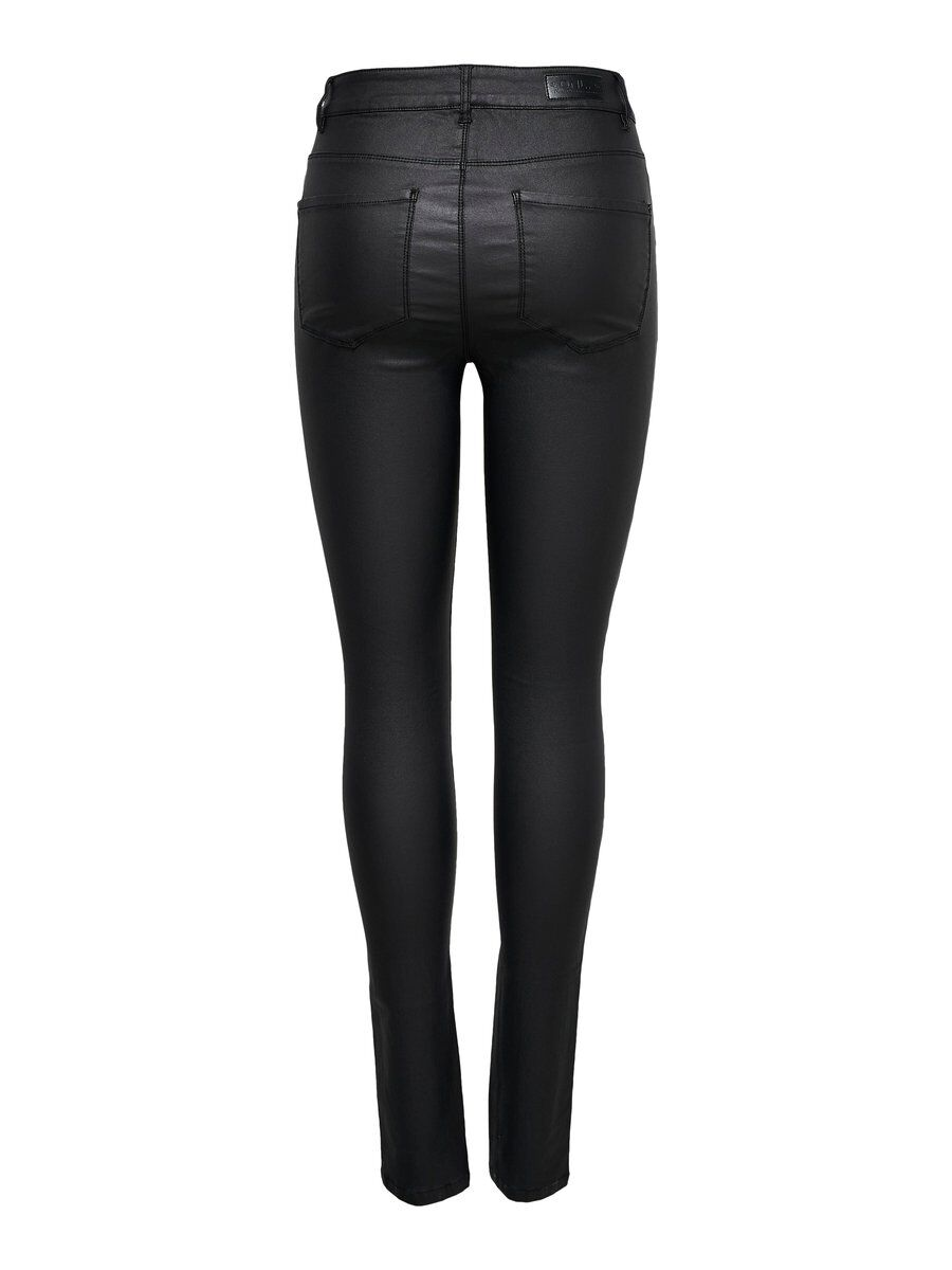 ONLY Onlanne Mid Coated Skinny Fit Jeans Damen Schwarz