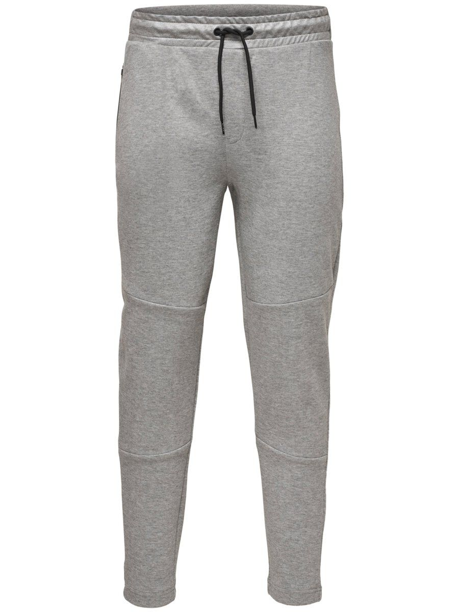 ONLY Solid Sweat Pants Men Grey