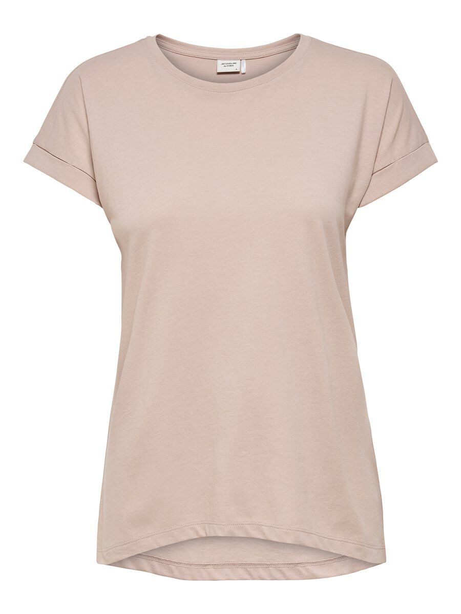 ONLY Solid Short Sleeved Top Women Grey
