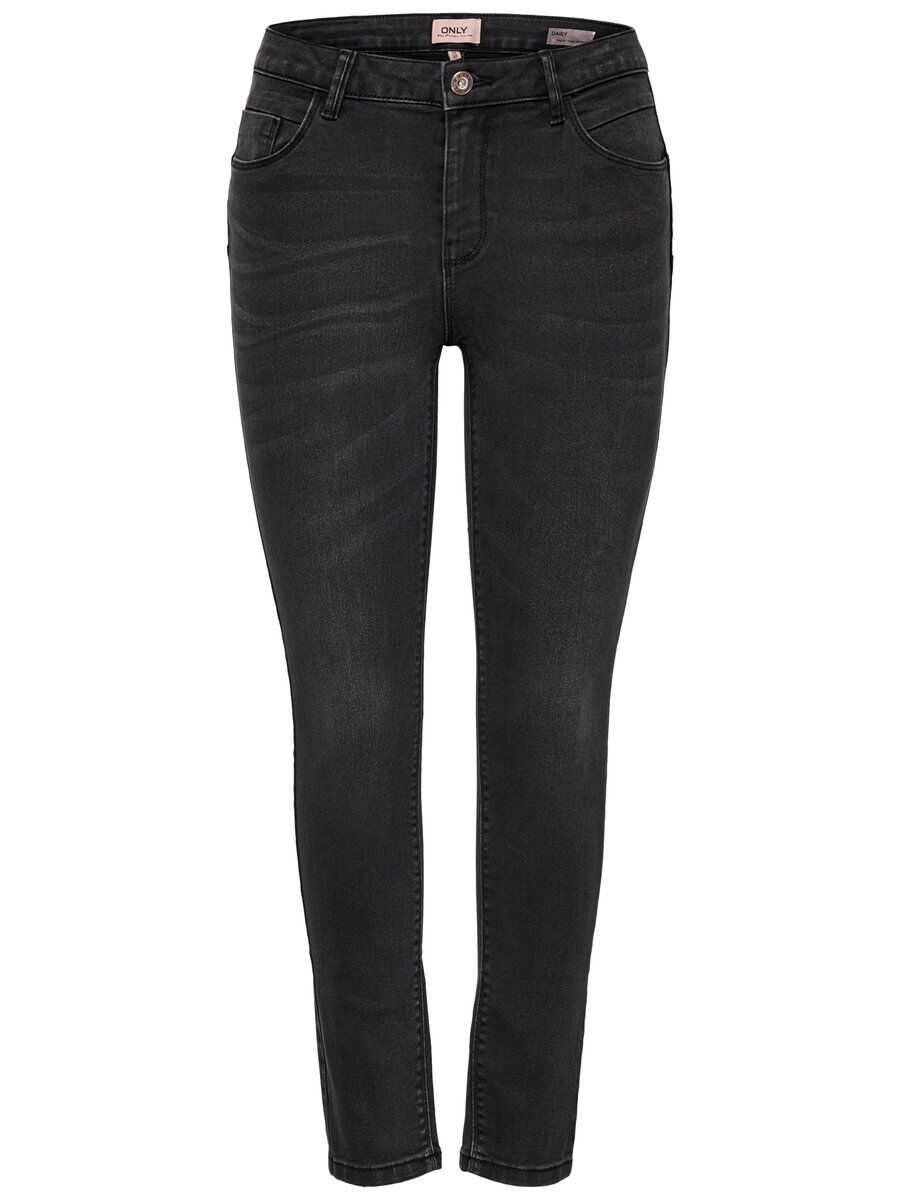 ONLY Onldaisy Reg Push Up Ankle Skinny Fit Jeans Damen Grau
