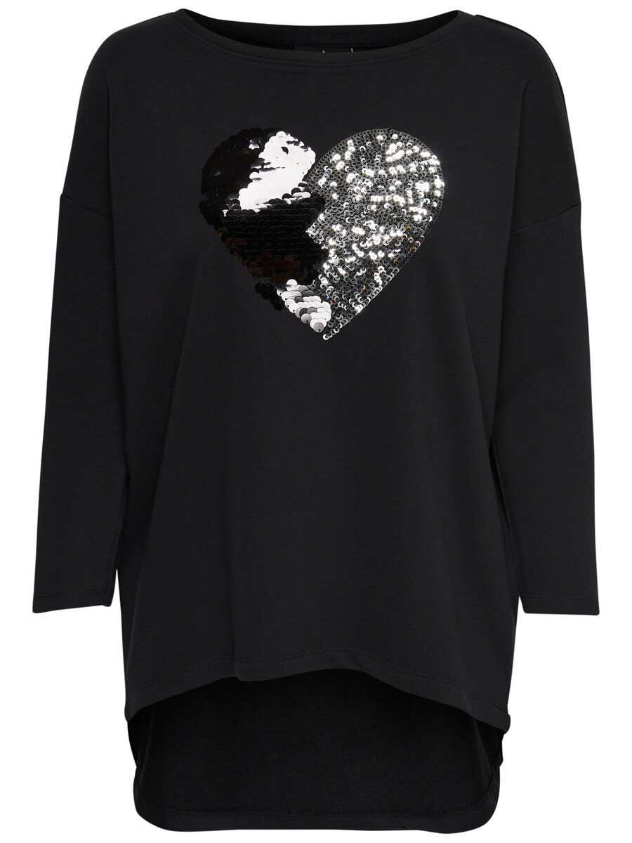 ONLY Lockeres Sweatshirt Damen Schwarz