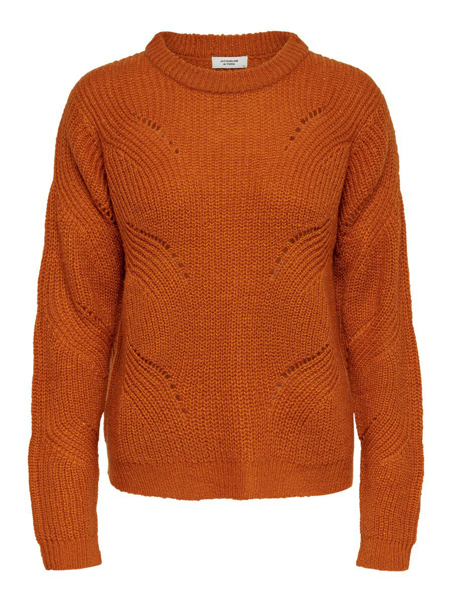 ONLY Detailed Knitted Pullover Women Orange