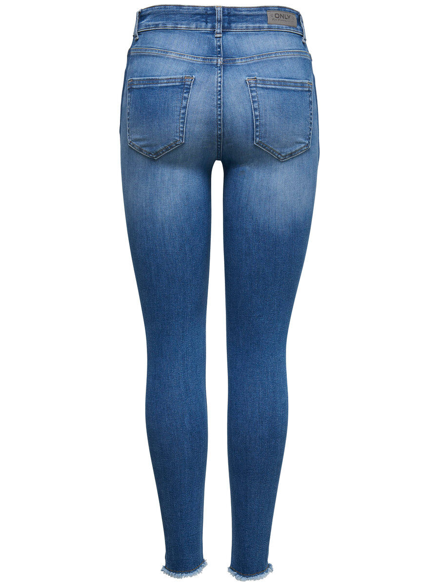 ONLY Onlblush Mid Ankle Panel Skinny Fit Jeans Damen Blau