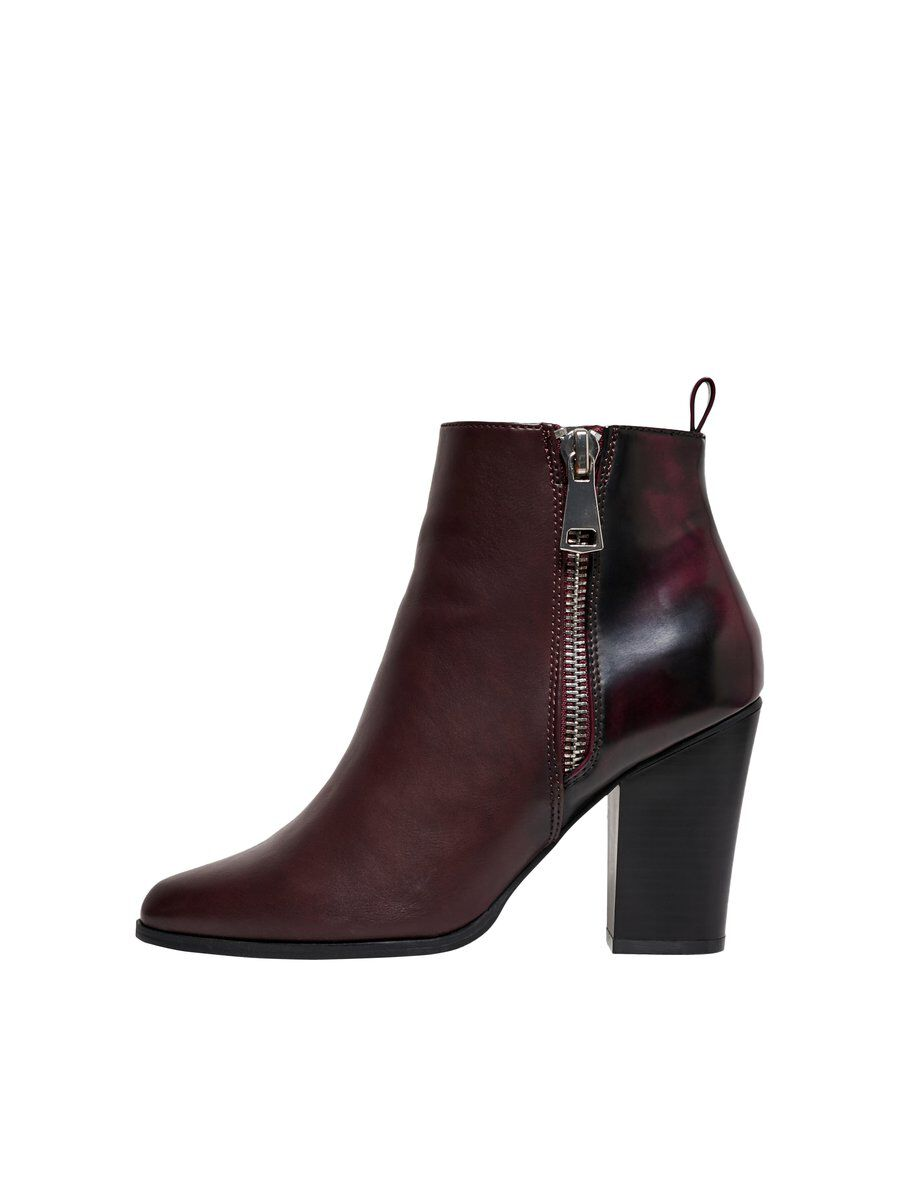 ONLY Absatz Stiefel Damen Rot   Schuhe > Stiefel   Rot   ONLY