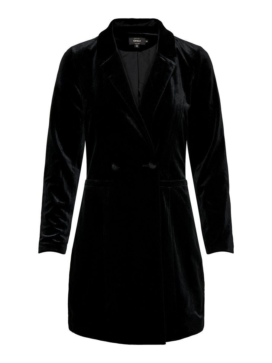 ONLY Long Blazer Damen Schwarz