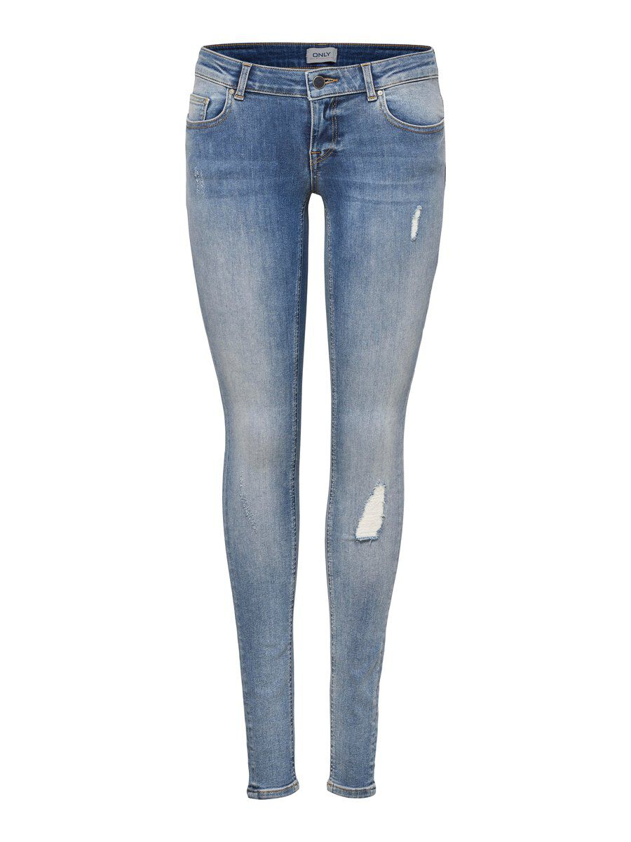 ONLY Onlcoral Super Low Skinny Fit Jeans Damen Blau