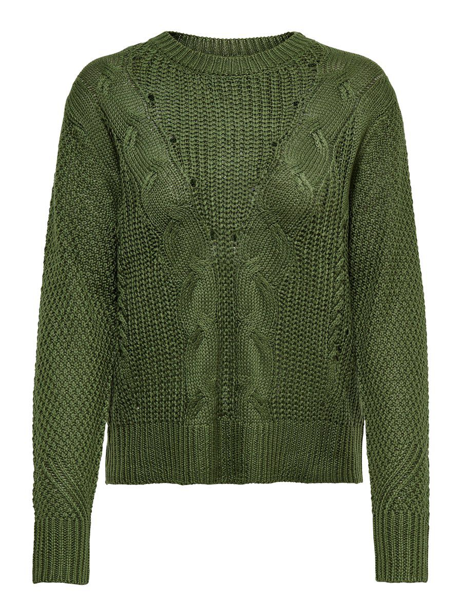 ONLY Texture Knitted Pullover Women Green