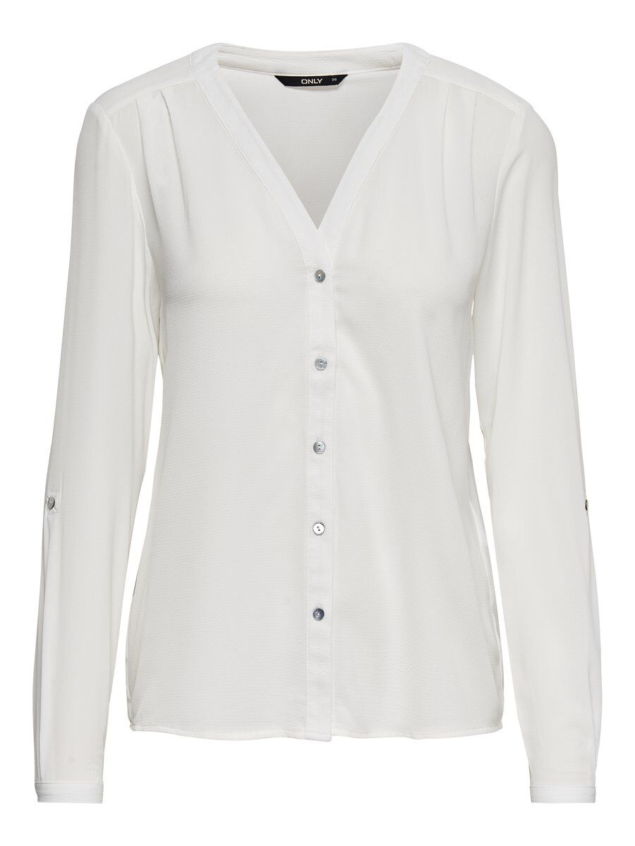 ONLY Lockeres Langarmhemd Damen White