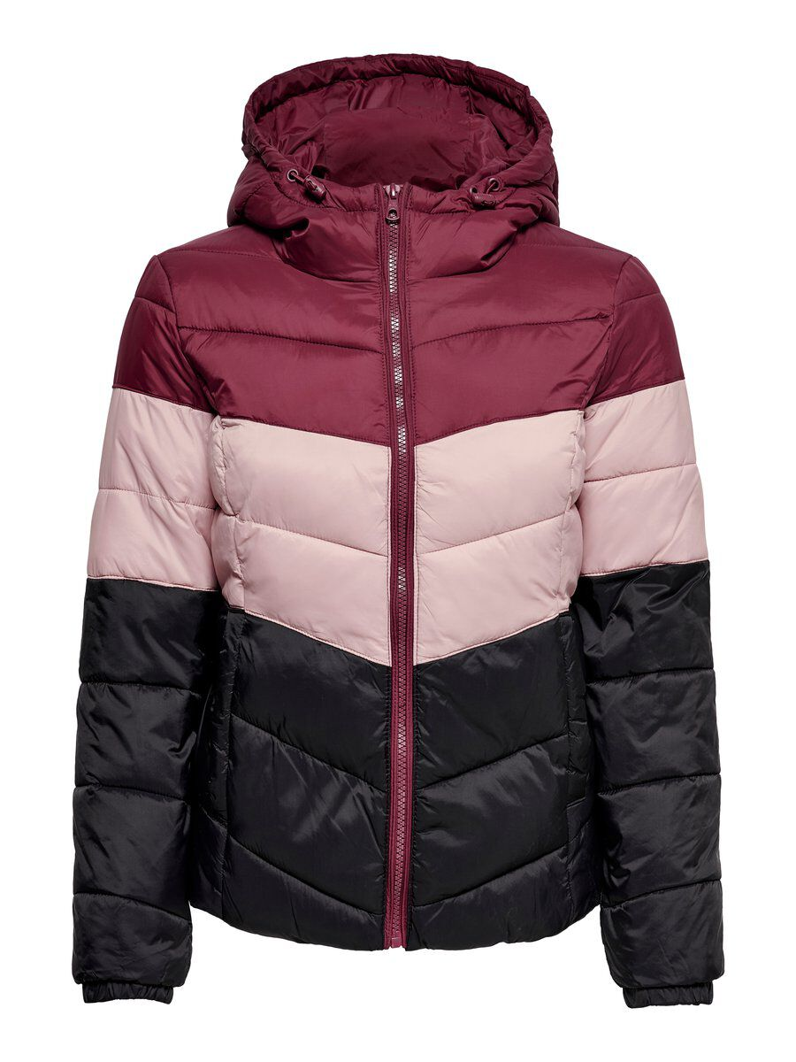 ONLY Short Quilted Jacket Damen Rot