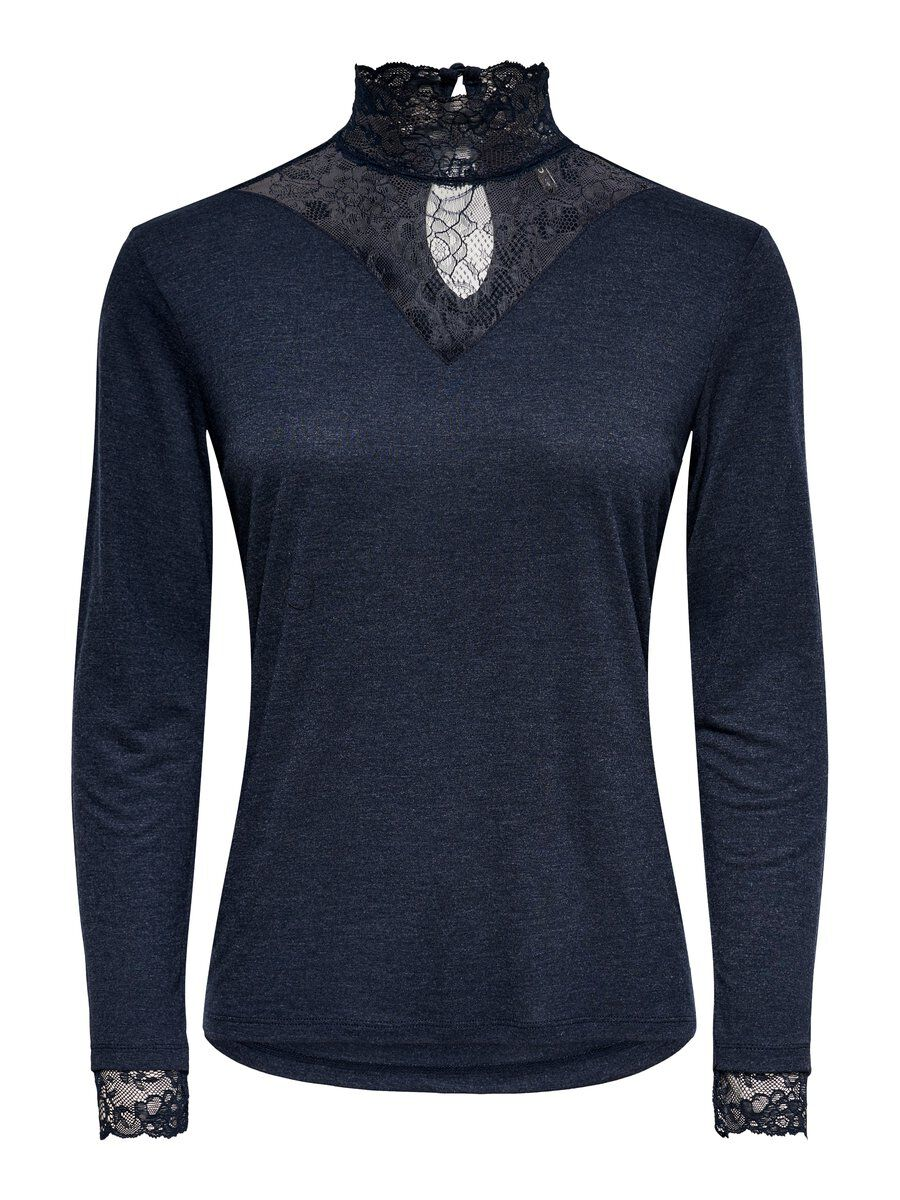 ONLY Lace Long Sleeved Top Women Blue