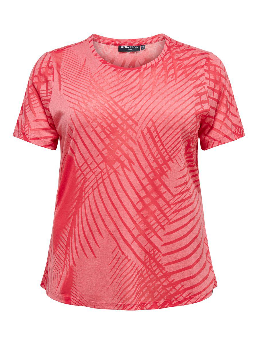 ONLY Curvy Print Trainingstop Damen Pink | Sportbekleidung > Sporttops | Pink | ONLY