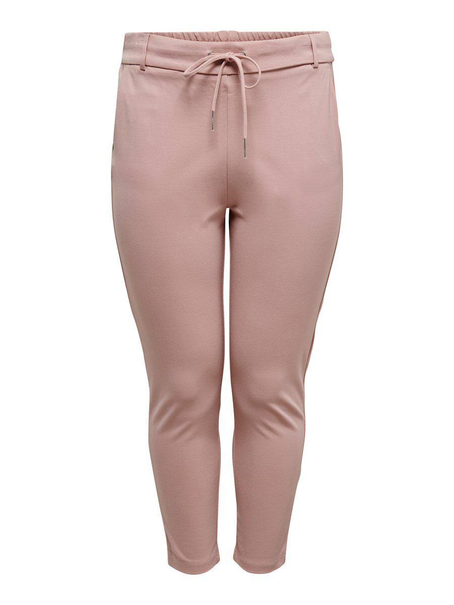 ONLY Curvy Solid Trousers Women Pink