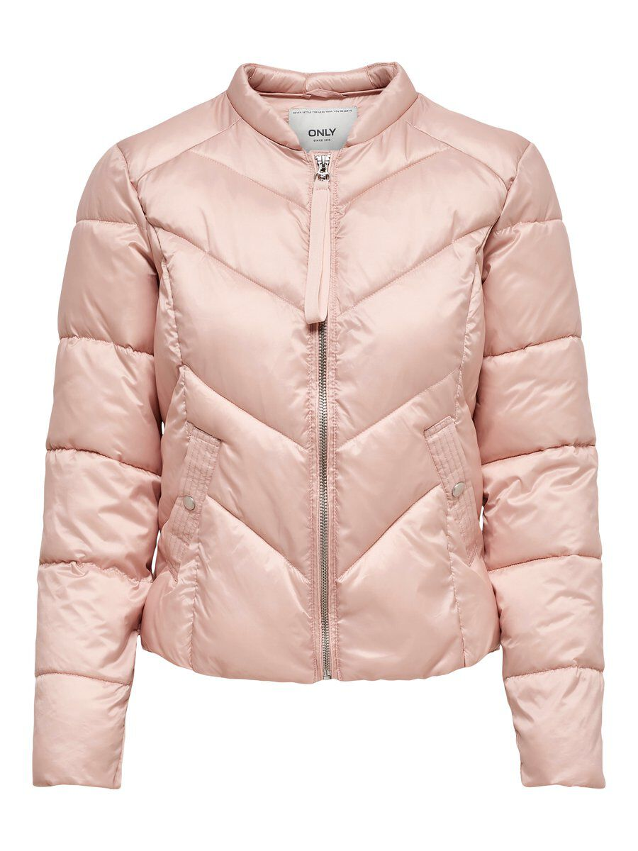 ONLY Nylon Quilted Jacket Damen Pink