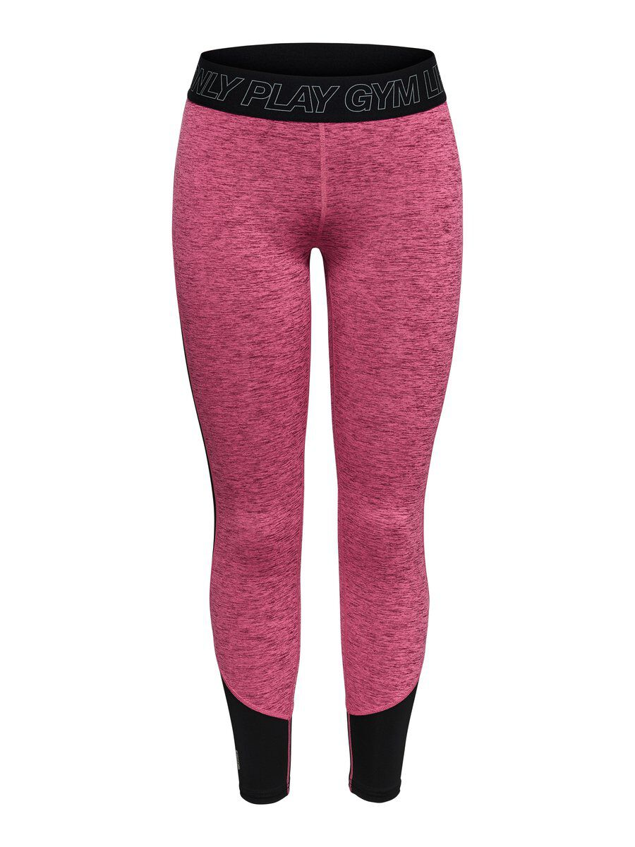 ONLY Kontrastfarbige Trainingstights Damen Pink | Sportbekleidung > Sporthosen > Tights | Pink | ONLY