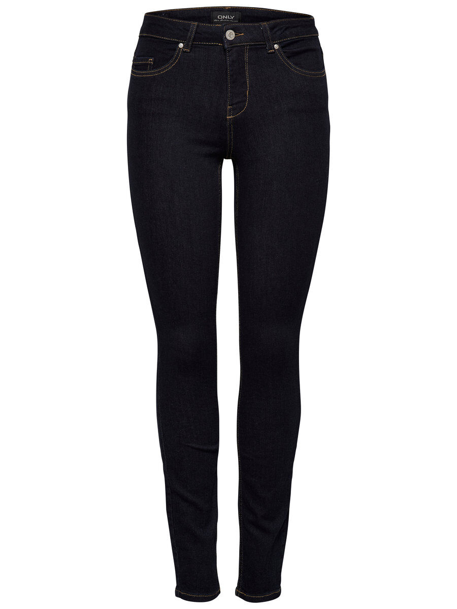 ONLY Onlhush Mid Skinny Fit Jeans Damen Blau