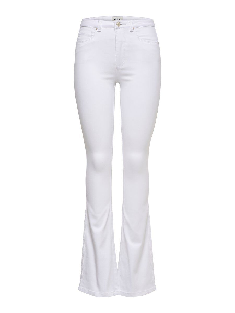 ONLY Onlroyal Hw Flared Jeans Damen White