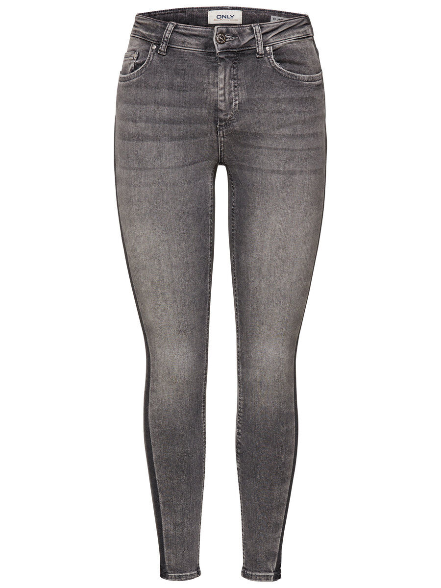 ONLY Onlblush Mid Panel Ankle Skinny Fit Jeans Damen Grau