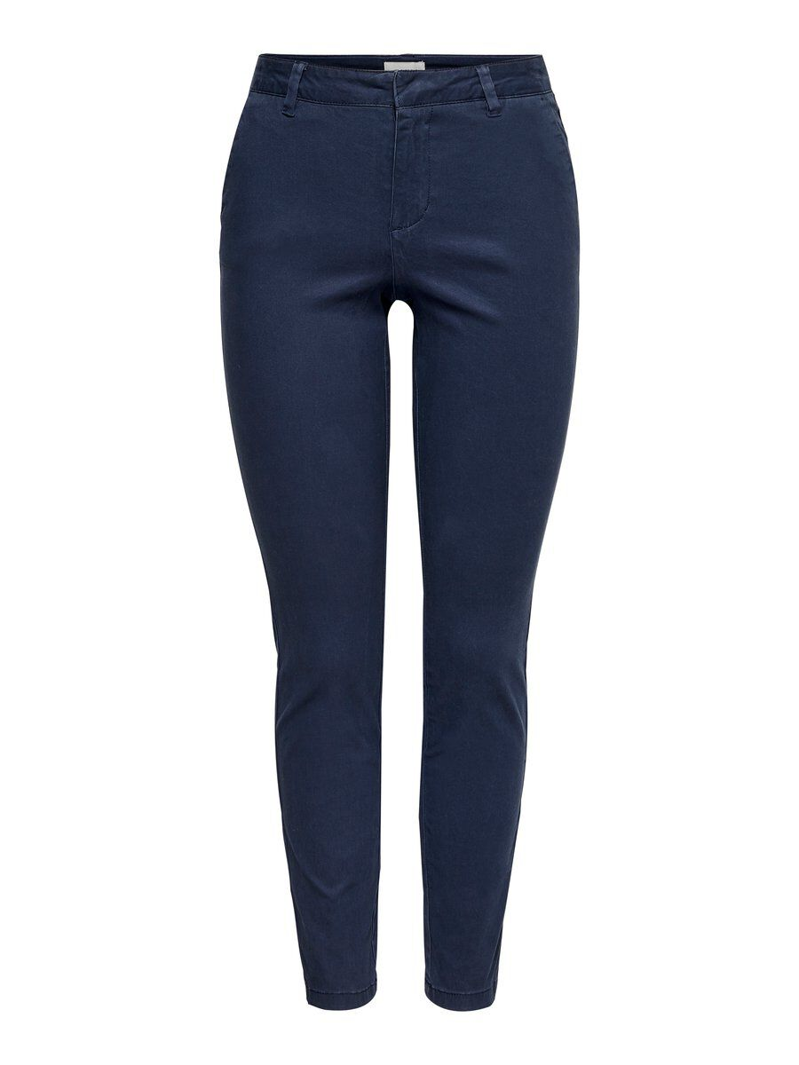 Only Regular Fit Chino Dames Blauw