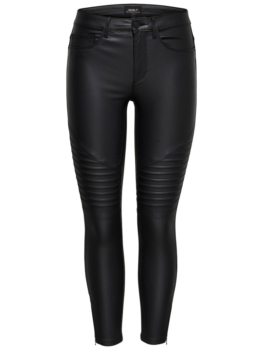 ONLY Onlroyal Rg Sk An Zip Biker Rock Skinny Fit Jeans Damen Schwarz