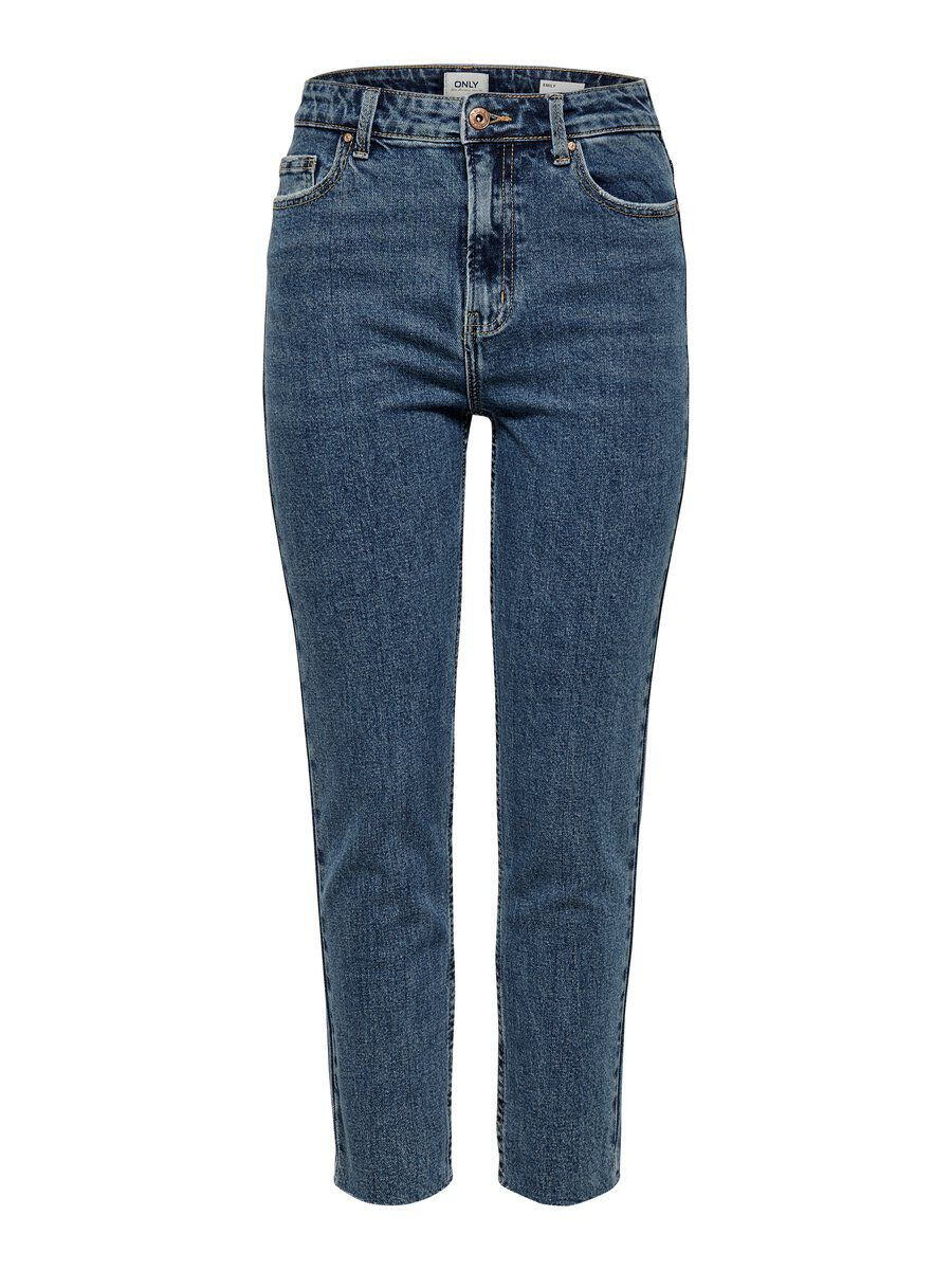 ONLY Onlemily Hw Straight Fit Jeans Damen Blau