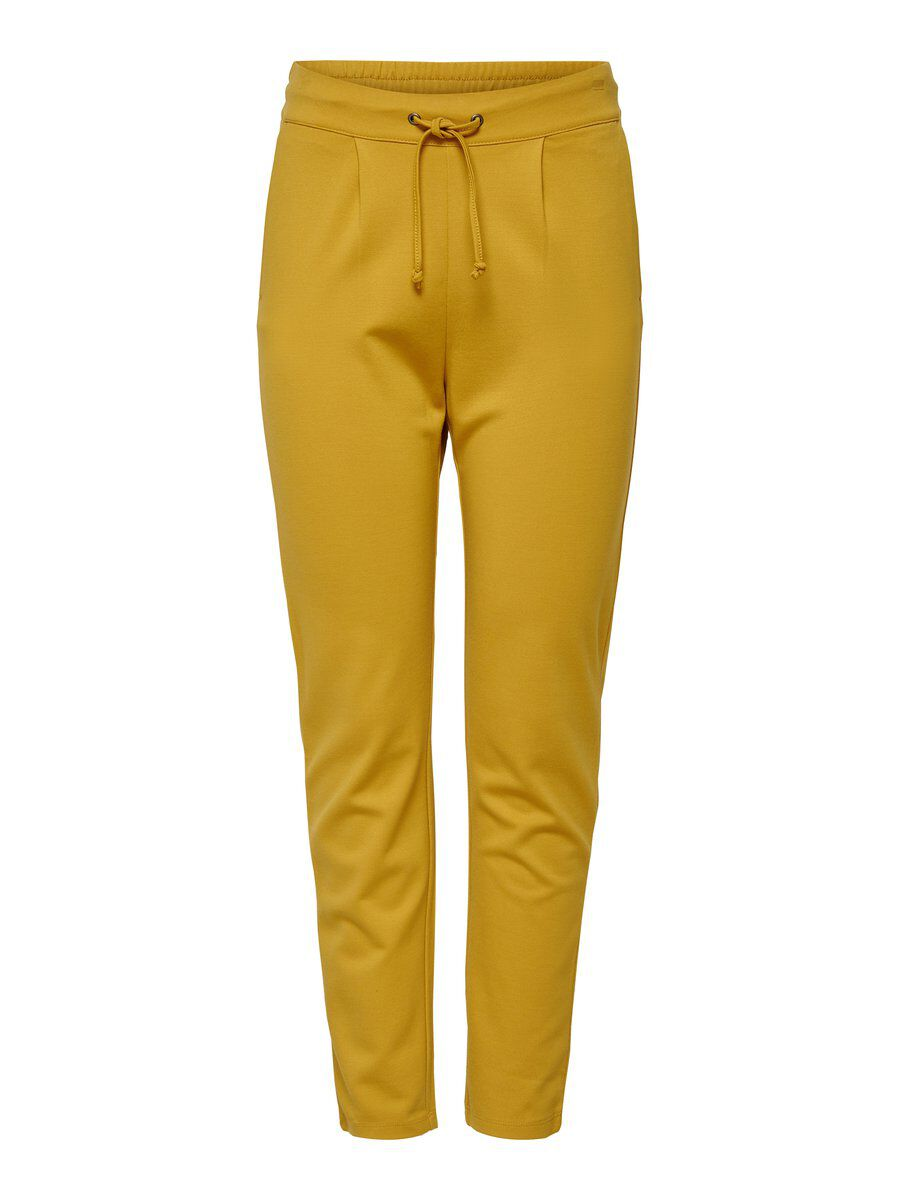 ONLY Loose Trousers Women Yellow