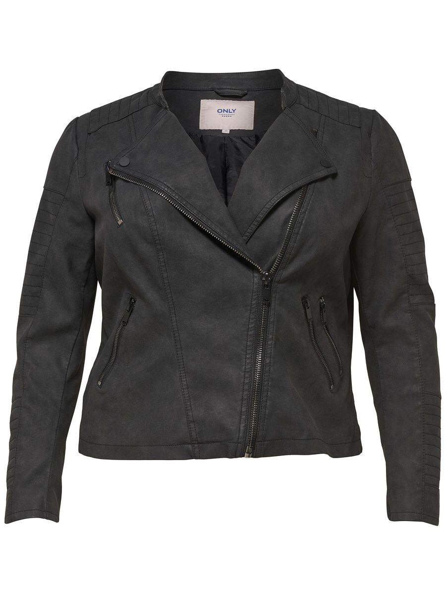 ONLY Curvy Faux Leather Jacket Women Black