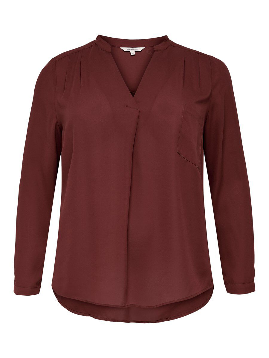 ONLY Curvy Bluse Damen Rot