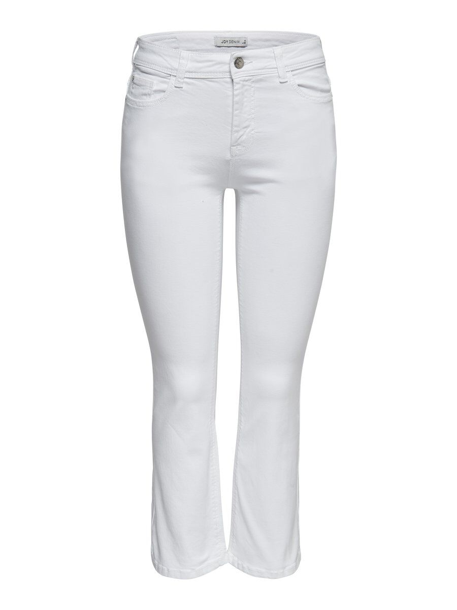 ONLY Onlausgestellte Cropped Hose Damen White