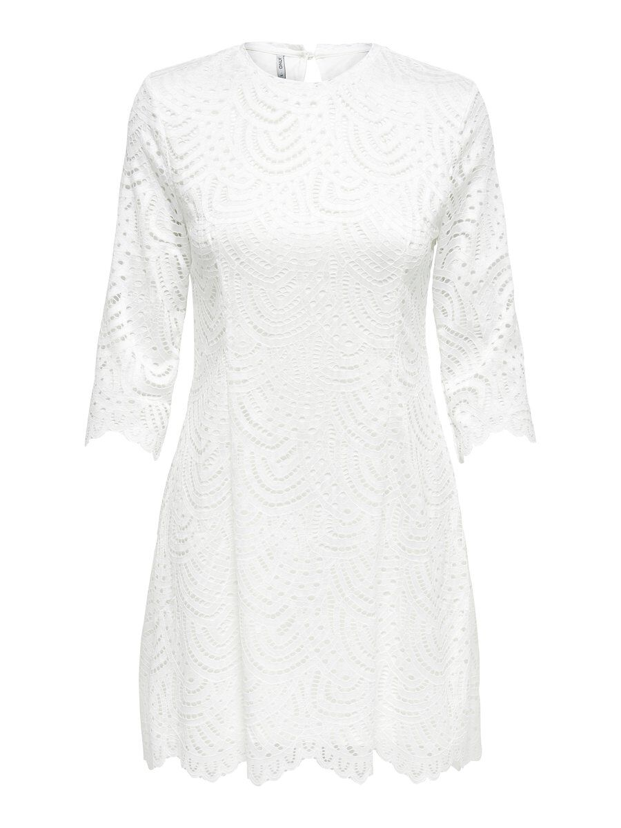 ONLY Spitzen Kleid Damen White