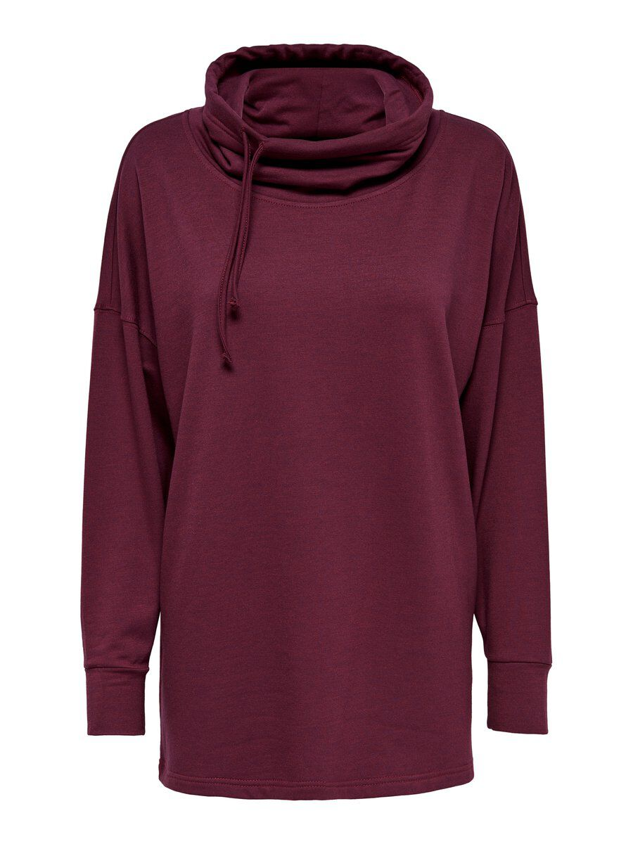 ONLY Langes Sweatshirt Damen Rot