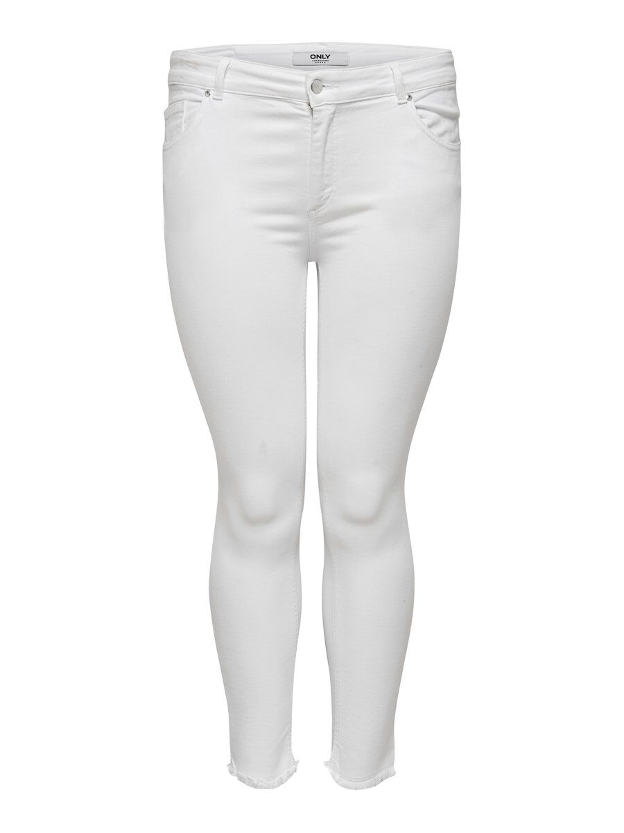 ONLY Curvy Carwilly Reg Skinny Fit Jeans Damen White