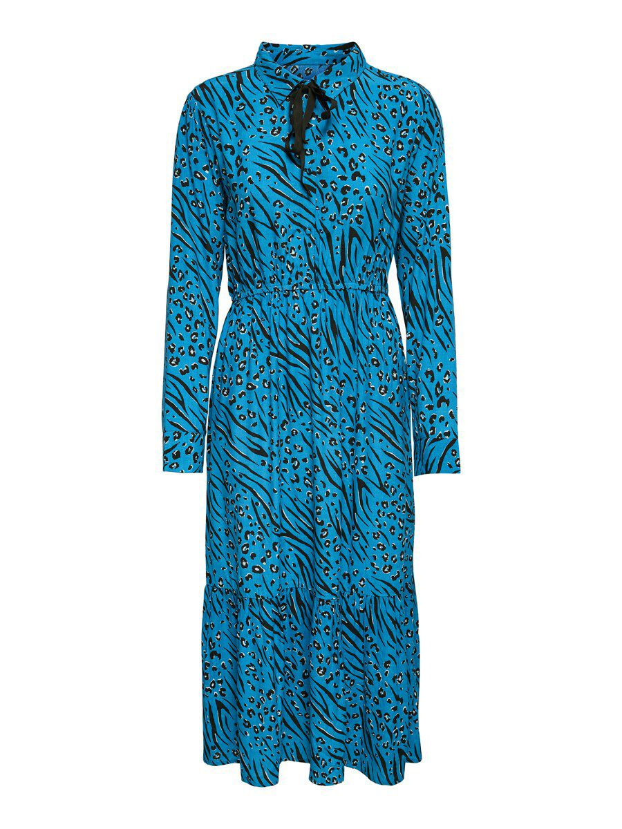 ONLY Langärmeliges Kleid Damen Blau