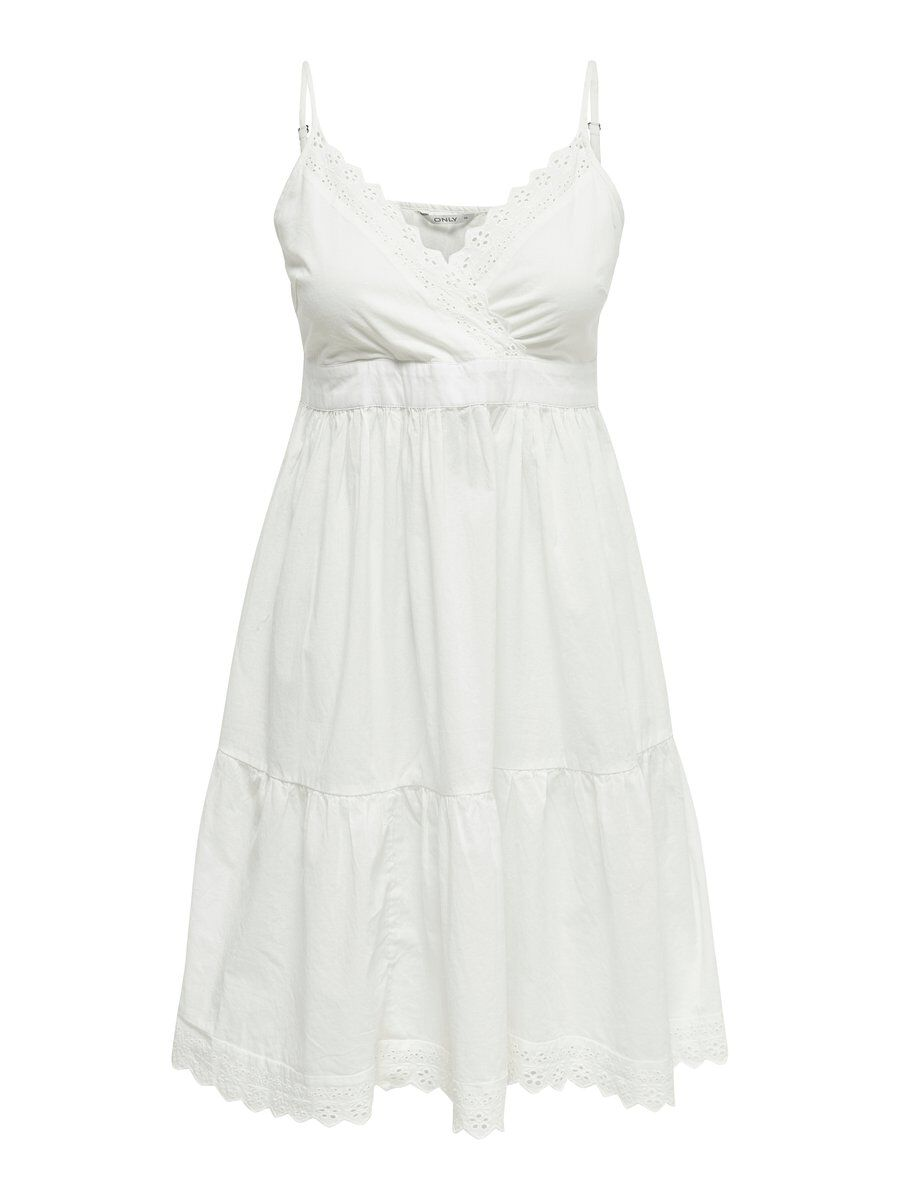 ONLY Ärmelloses Kurzkleid Damen White