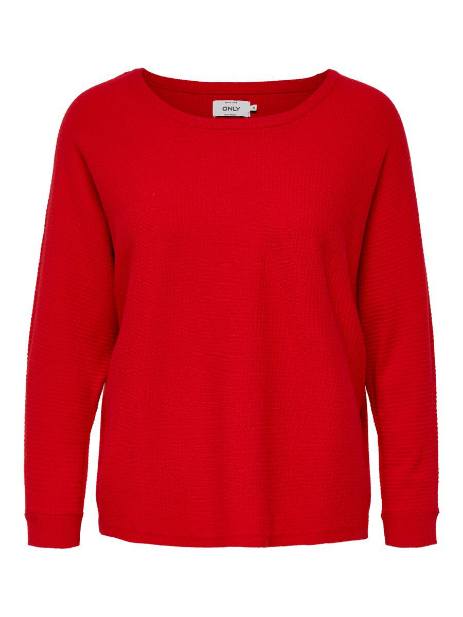 ONLY Batwing Strickpullover Damen Rot