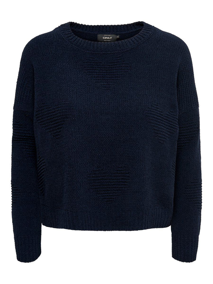ONLY Lockerer Strickpullover Damen Blau
